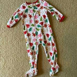 Fleece Footie Christmas Pajamas